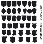 black shields set | Shutterstock . vector #100423504