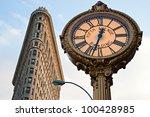 new york  march 29  flat iron... | Shutterstock . vector #100428985