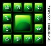 vector party icon set
