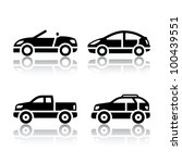 set of transport icons   cars