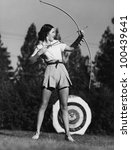 female archer | Shutterstock . vector #100439641