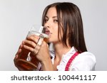 girl on oktoberfest | Shutterstock . vector #100441117