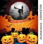 halloween card design | Shutterstock . vector #100443709
