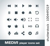 media player vector icons set | Shutterstock .eps vector #100449319