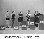 women wearing fashions of... | Shutterstock . vector #100452295