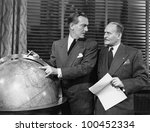 businessmen with globe | Shutterstock . vector #100452334