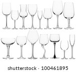 collage of various wine glasses | Shutterstock . vector #100461895