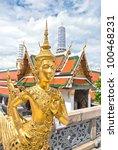 golden angel statue at wat pra... | Shutterstock . vector #100468231