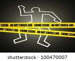 vector illustration of a police ... | Shutterstock .eps vector #100470007