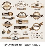 premium collection of bakery... | Shutterstock . vector #100472077