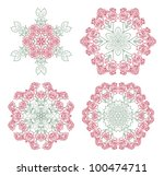 collection of bouquets of red... | Shutterstock .eps vector #100474711