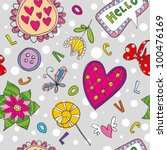 seamless floral pattern with... | Shutterstock .eps vector #100476169