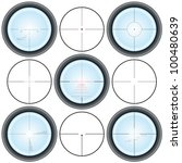 different types of crosshairs | Shutterstock .eps vector #100480639
