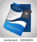 modern brochure design | Shutterstock .eps vector #100480894