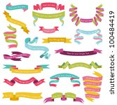 set of colorful ribbons for... | Shutterstock .eps vector #100484419
