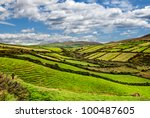Sunny Green Mountain Landscape...