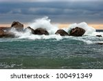 Storm In Sea  Beside The Wild...