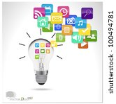 bulb with cloud of colorful... | Shutterstock .eps vector #100494781