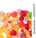 colorful jelly candies isolated ... | Shutterstock . vector #100495279