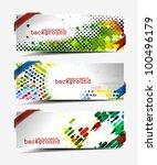 set of abstract header vector... | Shutterstock .eps vector #100496179