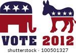 vote 2012 | Shutterstock .eps vector #100501327