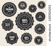 set 9 detailed premium quality... | Shutterstock .eps vector #100504201