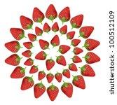 Fresh Red Strawberries Isolate...
