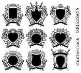 coat of arms set. vector... | Shutterstock .eps vector #100523659
