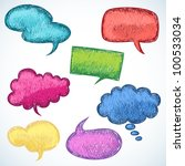colorful speech balloons in... | Shutterstock .eps vector #100533034