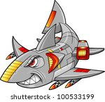 metal armed robot cyborg shark... | Shutterstock .eps vector #100533199