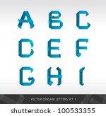 paper letters | Shutterstock .eps vector #100533355