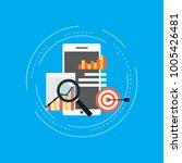 business graph statistics flat... | Shutterstock .eps vector #1005426481