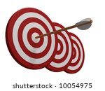 three red and white target with ... | Shutterstock . vector #10054975