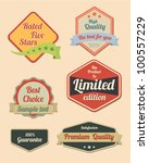 retro design label set 2 | Shutterstock .eps vector #100557229