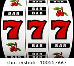 Stock photo  d rendering of a jackpot on a slot machine 100557667