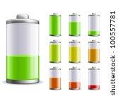 battery charge status vector... | Shutterstock .eps vector #100557781