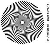 circular  radial abstract... | Shutterstock .eps vector #1005589645