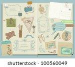 scrapbook design elements  ... | Shutterstock .eps vector #100560049