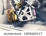 engine of washing machine with... | Shutterstock . vector #1005604117