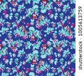 floral pattern in vector | Shutterstock .eps vector #1005613759
