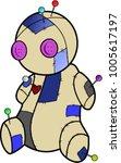 vector voodoo doll | Shutterstock .eps vector #1005617197