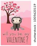 vector happy valentine's day... | Shutterstock .eps vector #1005620119