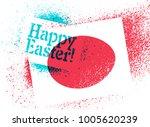 happy easter  typographic... | Shutterstock .eps vector #1005620239
