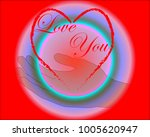 happy valentine's day  love you ...   Shutterstock .eps vector #1005620947