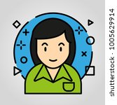iconic business avatar  | Shutterstock .eps vector #1005629914
