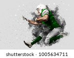 football player with a green... | Shutterstock . vector #1005634711