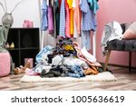 messy dressing room interior... | Shutterstock . vector #1005636619