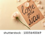 "card with words ""love you mom""... 