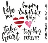 phrases for valentine's day  i... | Shutterstock . vector #1005640681