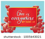 love is everywhere and happy... | Shutterstock .eps vector #1005643021